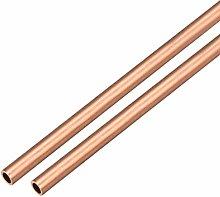 sourcing map 2Pcs Copper Round Tube Pipe 6mm