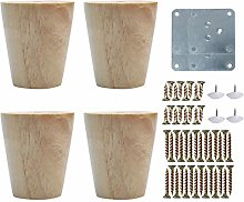 sourcing map 3 Inch Round Wood Furniture Legs Sofa