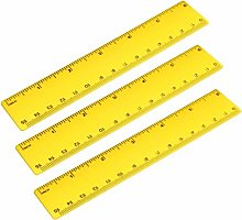 sourcing map 3 Pcs Plastic Ruler 15cm 6 inches