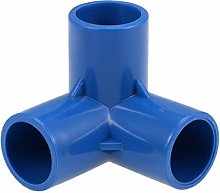sourcing map 3-Way Elbow PVC Pipe Fitting
