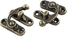 sourcing map 33mmx29mm Jewelry Box Hasp Hook Lock
