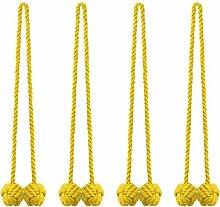 sourcing map 4 Pack Curtain Tiebacks Rope Curtain