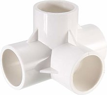 sourcing map 4 Way Elbow PVC Pipe Fitting