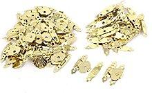 sourcing map 50 Pcs Metal Mini Flower Leaf Jewelry