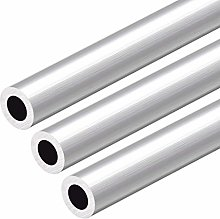 sourcing map 6063 Aluminum Round Tube, 300mm