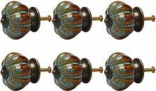 sourcing map 6pcs Ceramic Knobs Vintage Knob