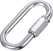 sourcing map Chain Connector, 6mm Thick Quick Link