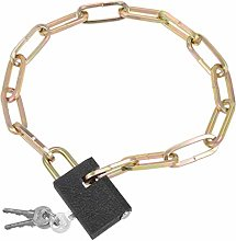 sourcing map Chain Lock with Padlock, 2 Feet Long,
