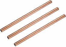 sourcing map Copper Round Tube, 11mm OD 1mm Wall