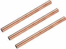 sourcing map Copper Round Tube, 14mm OD 1mm Wall