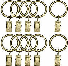 sourcing map Curtain Rings with Clips Strong