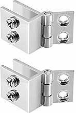 sourcing map Glass Door Hinge - 0 Degree Cupboard