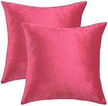 sourcing map Pack of 2 Velvet Throw Cushion Cover,