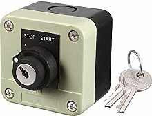 sourcing map Push Button Switch Station Key Lock