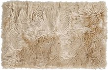 sourcing map Soft Faux Fur Rug Indoor Fluffy Faux