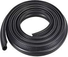sourcing map Trim Seal with Top Bulb, EPDM Rubber