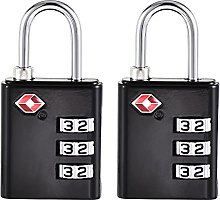 sourcing map TSA Approved Luggage Lock 3 Digit