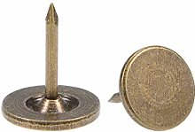 sourcing map Upholstery Nails Tacks 11mmx13mm Flat