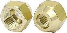 sourcingmap® 1/2BSP Brass Flare Nuts Air