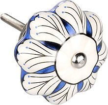 sourcingmap 1 Piece Vintage Shabby Knobs Blue and