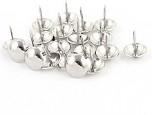 Sourcingmap® 16mm Dia Stainless Steel Drawing Pin