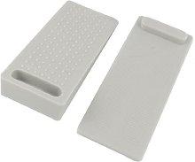sourcingmap® 2 Pcs Rubber Door Stop Wedge Gray