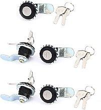 Sourcingmap® 5 Pcs Cam Lock for Security Door