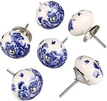 sourcingmap 6 Pieces Vintage Shabby Knobs White