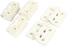 Sourcingmap a15013100ux0180 Hinge - White (Pack of