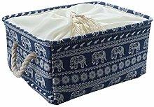 sourcingmap Blue Elephant Storage Bin Basket with