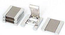 sourcingmap Cabinet Drawer Door Square Shape Metal