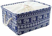 sourcingmap Canvas Fabric Storage Basket Bin,
