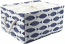 sourcingmap Canvas Fabric Storage Basket Bin for