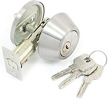 sourcingmap Door Locker Key Locking Silver Tone