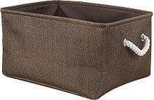 sourcingmap Fabric Storage Basket Laundry Bin with