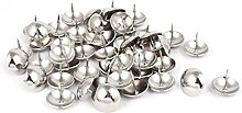 sourcingmap Home 25mm Dia Metal Round Domed Head