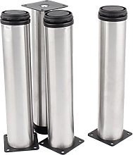 sourcingmap Round Feet Stand Holder Stainless
