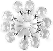 sourcingmap Round Shape Crystal Glass 30mm Kitchen