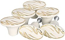 sourcingmap Set of 6 Modern Simple Gold Tone Style