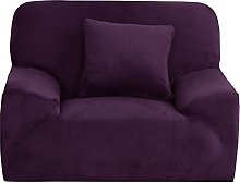 Sourcingmap Velvet Plush Sofa Cover Chair Loveseat