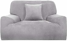 Sourcingmap Velvet Plush Stretch Sofa Cover,