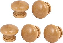sourcingmap Wardrobe Drawer Wooden Round Pull