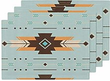 Southwest Boho Bohemian Blue Orange Brown