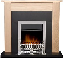 Southwold Fireplace in Oak & Black with Blenheim