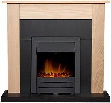 Southwold Fireplace in Oak & Black with Colorado