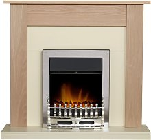 Southwold Fireplace in Oak & Cream with Blenheim