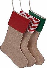 soweilan Christmas Burlap Stockings Linen Xmas
