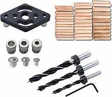 SOWSUN Centering Dowel Jig Kit,Aluminium Alloy