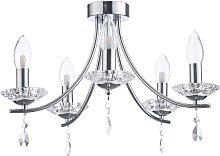 SPA 5 Light Semi Flush Bathroom Chandelier -Glass