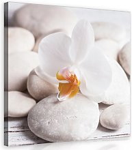 Spa Art Print on Canvas in Beige/White/Yellow